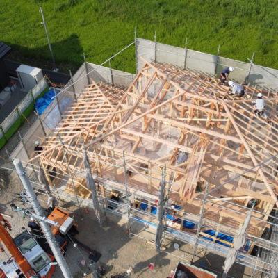 新築一戸建て(二階建て)建て方・上棟